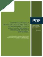 Guia Practica Para La Obtencion de Concesiones Para El Uso y Explotacion Del Agua