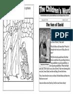 Children's Word bulletin for Sunday, July 27, 2014