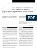 Evolucion de La Ansiedad en El Proceso de Dejar de Fumar