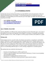 Parking Design Considerations