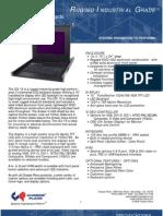 CCI-15 Rugged Industrial 15-inch LED Backlight LCD Keyboard Drawer Datasheet