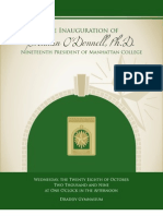 Manhattan College's Inauguration Program