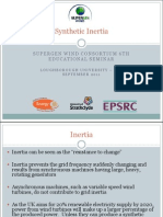 Synthetic Inertia - Supergen Wind Consortium 6th Educational Seminar