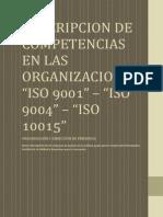 Descripcion de Competencias en Las Organizaciones