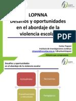 UCAB. Jornadas Bienestar Psicologico. Desafios y Oportunidades en El Abordaje de La Violencia Escolar. Carlos Trapani.