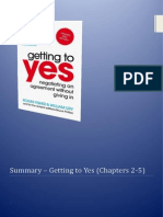 Getting to Yes - Summary