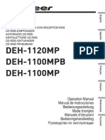 Pioneer Deh 1120mp Deh 1100mpb Deh 1100mp