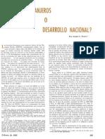 [1966] André Gunder Frank. Servicios Extranjeros o Desarrollo Nacional (Comercio Exterior, vol. 6, n° 2, Febrero, pp. 105-107)
