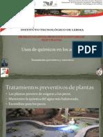 Usos de Químicos en Los Acuarios