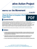 Memo for the Movement - End the Export-Import Bank