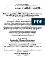 Liverpool Ancient Worlds-Events Flyer,April 2014