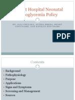 Wildcat Hospital Neonatal Hypoglycemia Policy