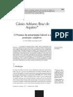 Aquino 2008 - O Processo de Precarização Laboral