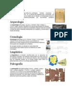 Antropología, Arqueologia, Cronologia, Linguistica, y Otras Ciencias, DG