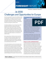 Global Trends 2030 Challenges and Opportunities for Europe (2013)