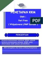 Penetapan KKM Kur 2013-FR