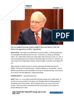 Warren Buffett transcript, March 3, 2014
