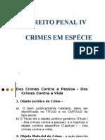 DIREITO PENAL IV - CRIMES EM ESPÉCIE