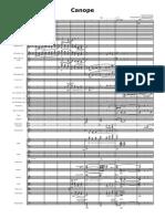 Canope-Orquestación . Instrumentación Para Imprimir - Partitura Completa