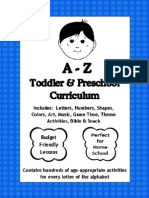 A to Z Toddler and Preschool Curriculum - Free Sample a to D