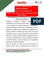 Intervención del diputado Adel El Zabayar con motivo de la consideración del Proyecto de Acuerdo en condena a la agresión contra el Pueblo Palestino