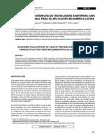 EvaluacionEs Económicas de TEcnologías Sanitarias