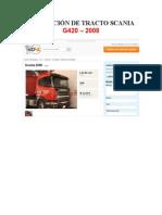 Cotización de Tracto Scania g420