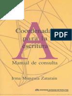 MUNGUIA ZATARAIN IRMA Coordenadas Para La Escritura Manual d