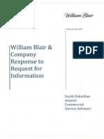 South Suburban Airport RFI Resposne - William Blair Co