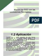 Exclusiones Permisibles ISO