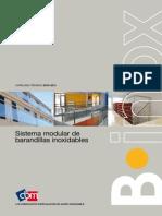 Sistema de Barandillas Inoxidables BINOX Catalogo Tecnico