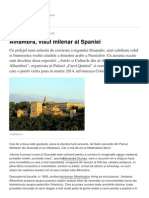 Alhambra Visul Milenar Al Spaniei