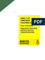 Isarel y Los Territorios Palestinos Ocupados