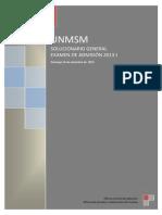 Examen Admision UNMSM 2013
