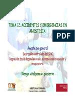 Accidentes y Emergencias en Anestesia