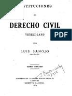 Instituciones de Derecho Civil - Tomo III - Luis Sanojo