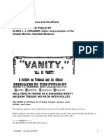 Vanity, All Is VanityA Lecture on Tobacco and its effects by Anonymous