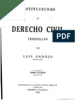 Instituciones de Derecho Civil - Tomo IV - Luis Sanojo