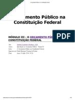 Introdução Ao Orçamento Público - O Orçamento Público Na Constituição Federal - Modulo 3
