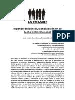 Abrach, Mariano- La Tabaré, Fugando de La Institucionalización en Su Lucha Antiinstitucional