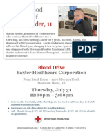 Blood Drive in Honor of Austin Snyder 7/31/14