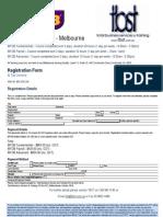 MYOB Classroom Registarion Form May 09