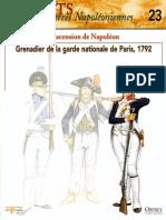 Osprey Delprado - Soldats Des Guerres Napoleoniennes - 023 - L'Ascension de Napoleon- Grenadier de La Garde Nationale de Paris 1792 - By Jinox
