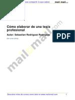 Como Elaborar Tesis Profesional 34690