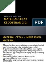 Material Cetak Kedoteran Gigi