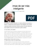 10 Formas de Ser Mas Inteligente