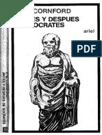 F. M. Cornford, Antes y Después de Sócrates
