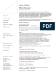 Physiotherapist CV Template