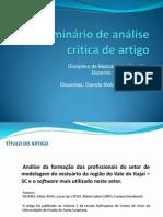 Análise de Artigo - Metodologia Científica
