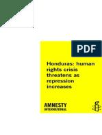 Amnesty International - Honduras 2009